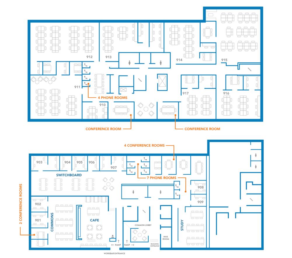 Workbar Burlington Floorplan