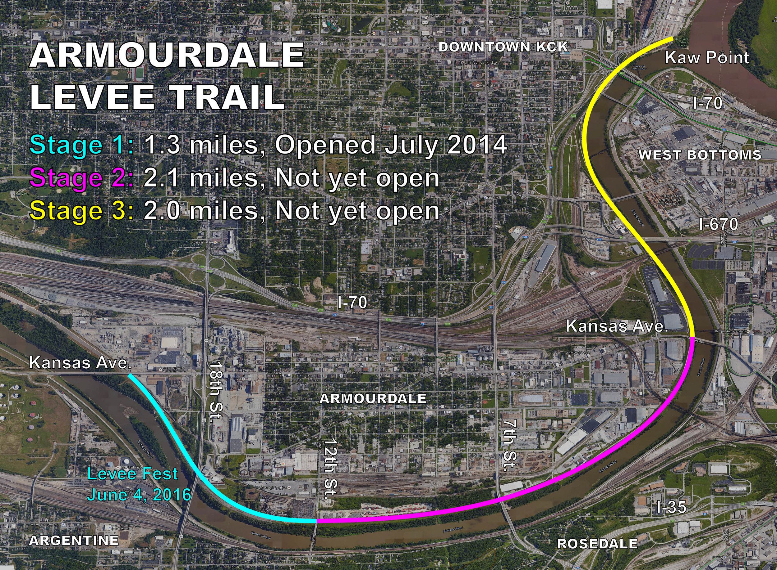 Armourdale Levee Trail Overall