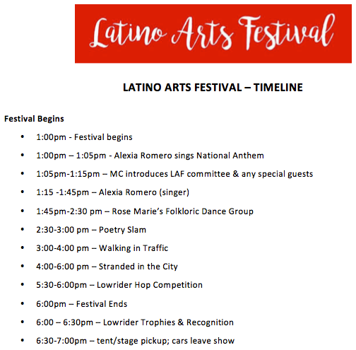 2018 Latino Arts Festival Schedule of Events.png