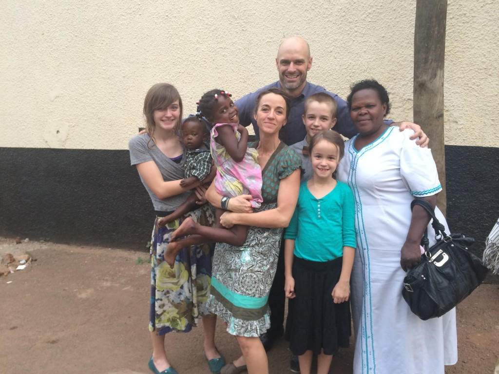Leaving court with Orphanage Director Hillary