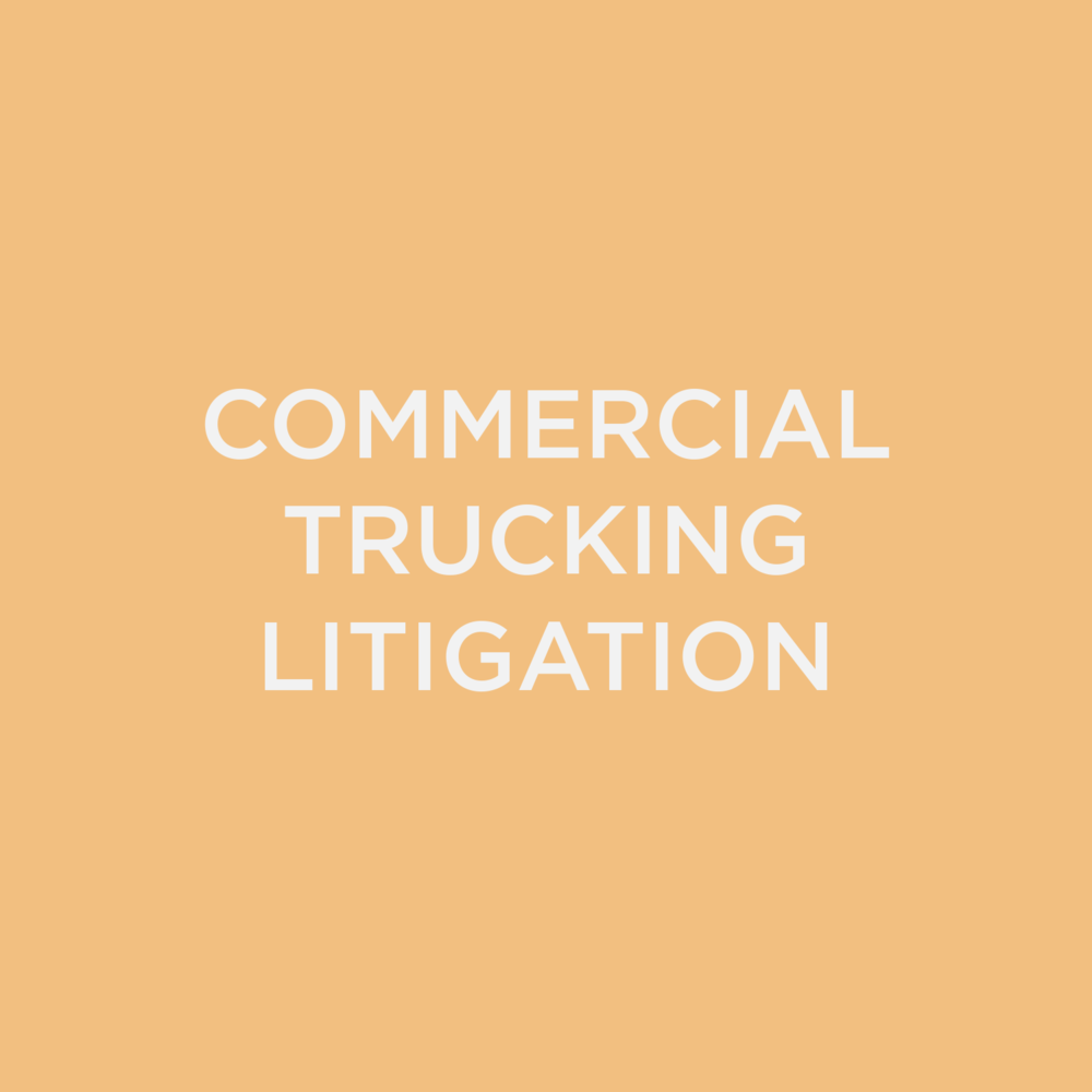 Commercial Trucking Litigation
