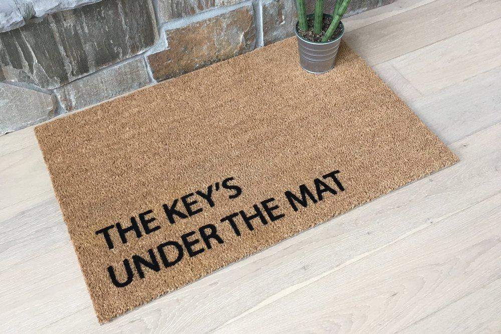 Key under doormat DIY Protection
