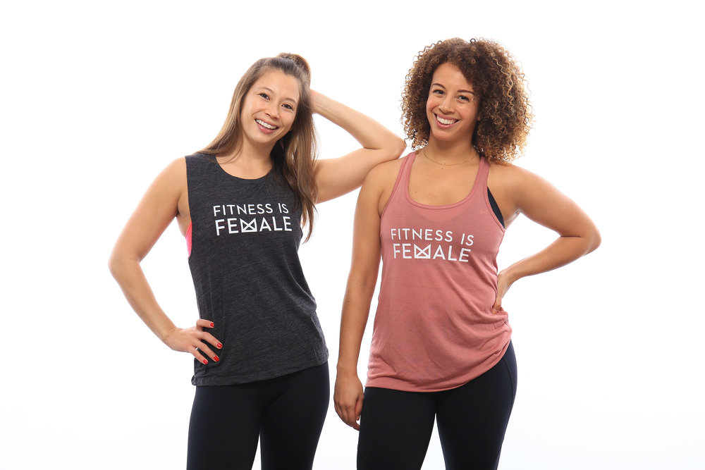 Fitness is Female Flowy Racerback - $30