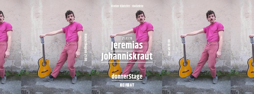 DonnerStage #30 w/ Jeremias Johanniskraut