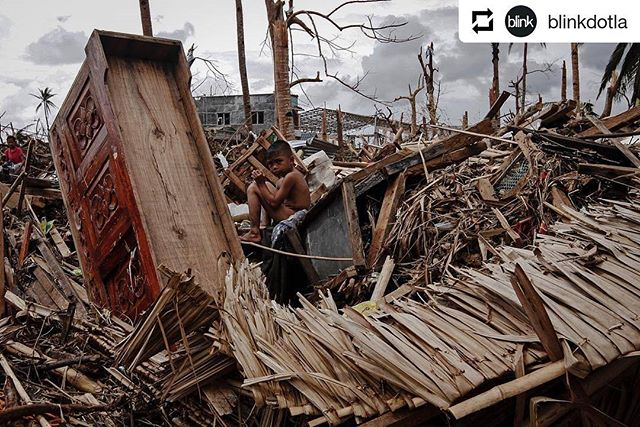"#Repost @blinkdotla • • • A child sits in the midst of rubble in Palo, Leyte in the central Philippines, a few days after #Typhoon #Haiyan struck the islands.The Philippines is one of the most vulnerable countries to #climate change. In November 2013, Typhoon Haiyan, the deadliest storm on record hit the southern islands of the country, leaving more than 6,000 dead and millions #homeless. . During that time, COP 19, the highest level of climate talks was ongoing in Warsaw, Poland. As the world witnessed the devastation that gripped my country, leaders and negotiators responded with a mechanism that would deal with loss and damage — irreversible costs of climate change that cannot simply be addressed through curbing emissions or building climate resilient systems. . Loss and damage is a contentious but important pillar of the Paris Agreement, as it seeks to protect vulnerable sectors of society from the harsh impacts of climate change. However, not much progress has been achieved in the negotiations during COP 23 in Bonn, Germany. As the world gears for the full implementation of the Paris Agreement in 2020, it remains to be seen if the world will respond to the need to provide safety nets to the most vulnerable so that another Haiyan won't happen again.  This week, @alanahtorralba is sharing a variety of work that aims to simplify climate action and policymaking by depicting concrete impacts of #climatechange in the #Philippines. Today we will look at excerpts from Alanah's visual essay ""Haiyan."" Photo: @alanahtorralba/ @womenphotograph"