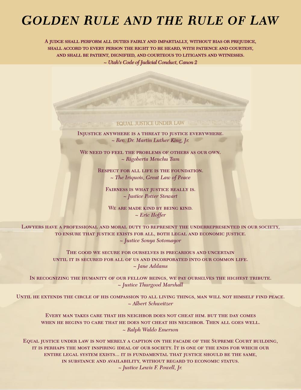 Golden Rule & Rule of Law