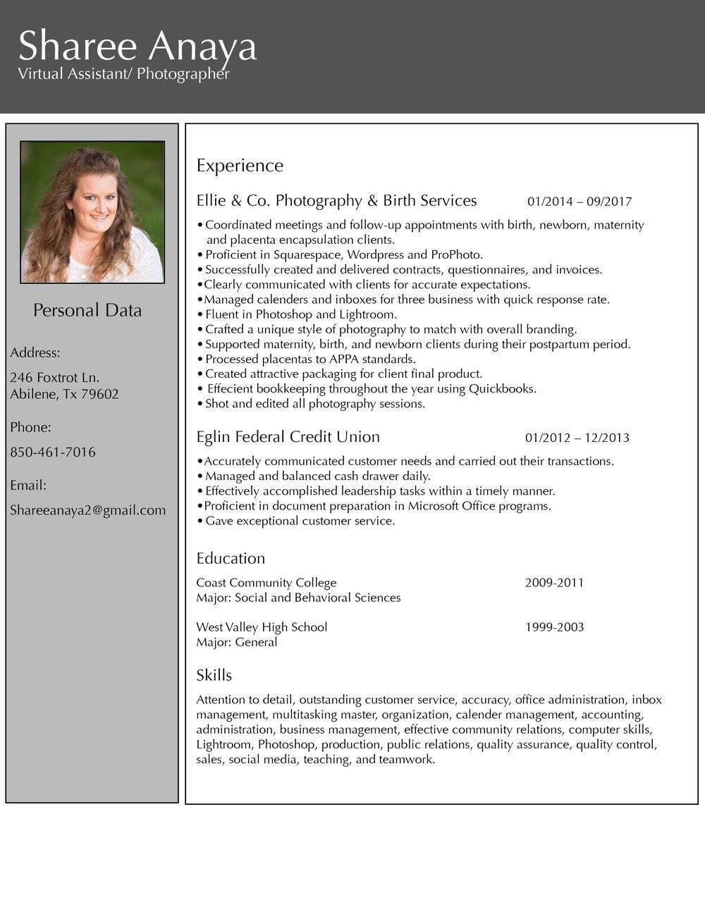 Home - Virtual Assistant- Sharee Anaya