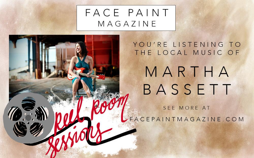 Reel Room Sessions ad slide for Martha Bassett with updated logo.