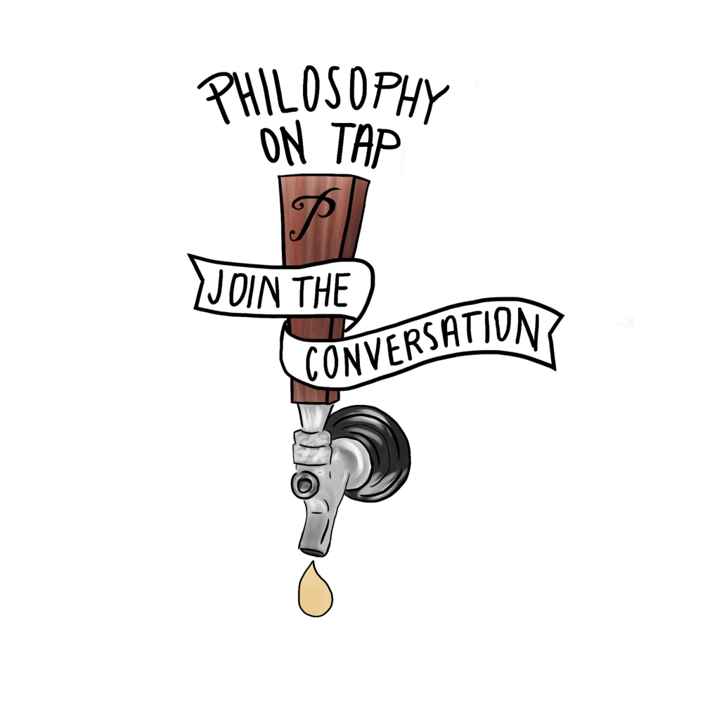 Final graphic for local philosophy group, Philosophy on Tap