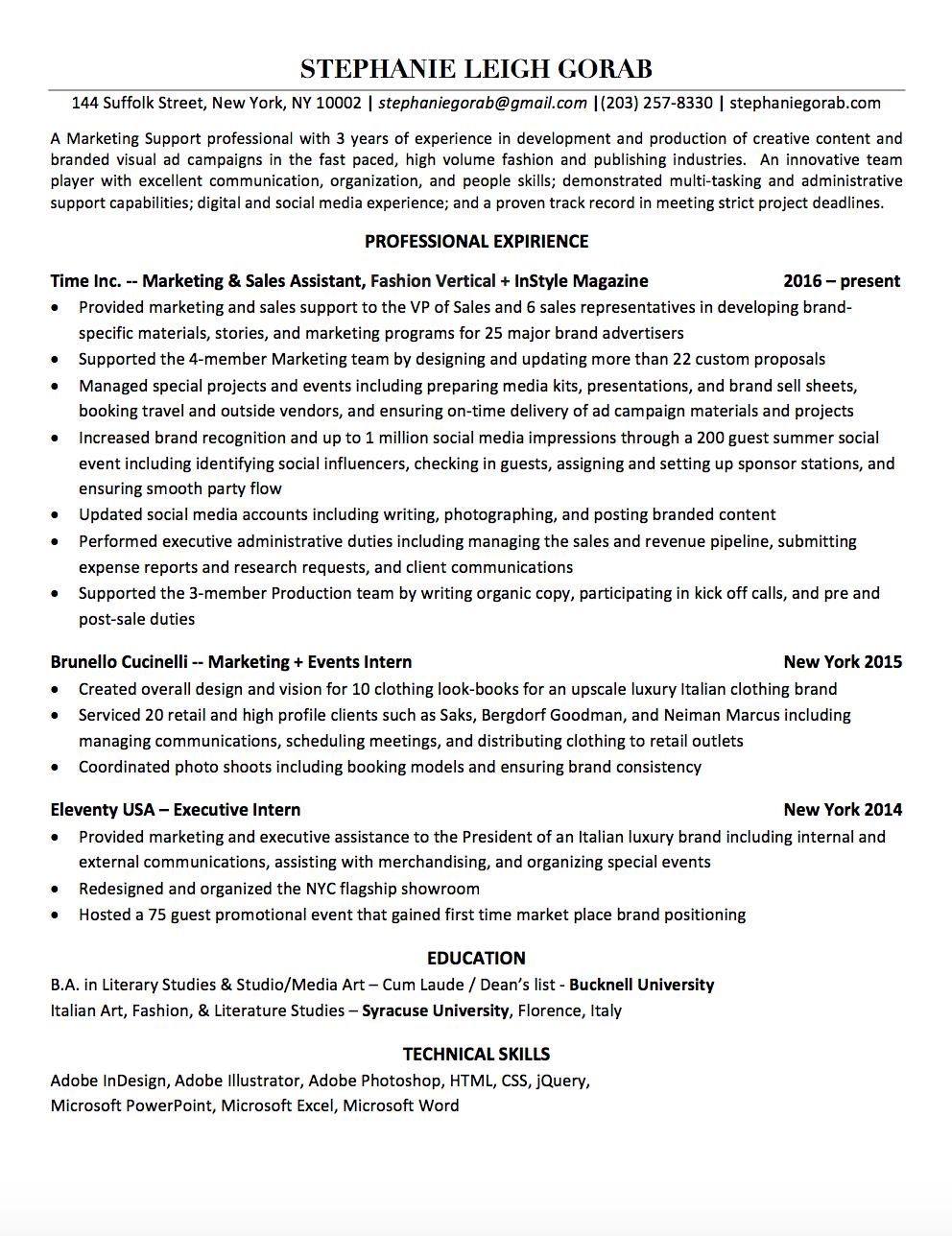 Resume — SLG