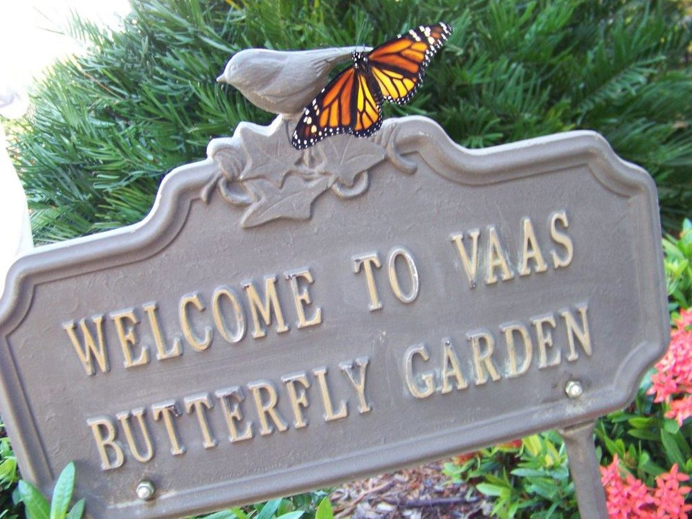 VAAS Butterfly Garden sign  By Richard Holder