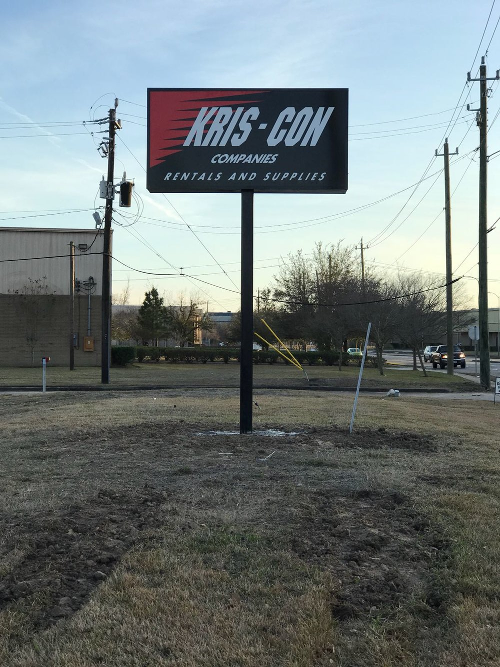 Single tenant ground sign, Houston, TX.