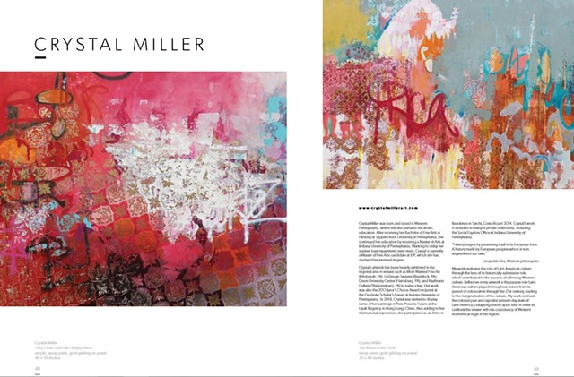 The wonderful publication of Fresh Paint Magazine featured my work in their December 2015 issue, curated by THE JEALOUS CURATOR aka Danielle Krysa!!                                         .......swoon.