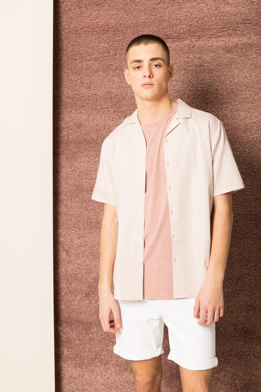 Breeze Solid Short Shirt,  Eda Tee  &  Harbor Denim Shots