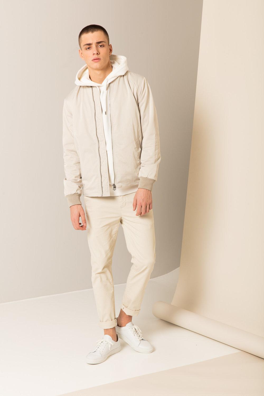 Preston Jacket ,  Superba Hood ,  Aimon Skinny  &  Mats Leather Shoe