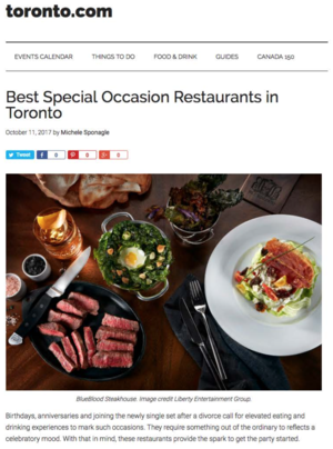 Best Special Occasion Restaurants in Toronto TORONTO.COM