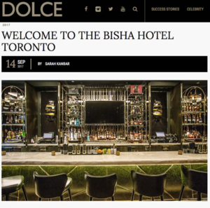 Welcome To The Bisha Hotel Toronto DOLCE.COM