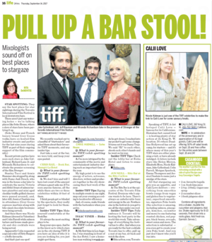 Pull Up A Bar Stool! TORONTO SUN