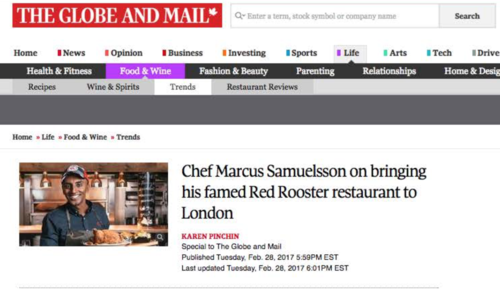 Marcus Samuelsson on his famed Red Rooster  ENROUTE MAGAZINE