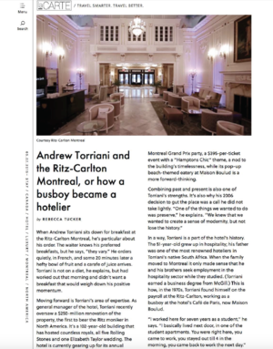 Andrew Torriani and the Ritz-Carlton LACARTE.COM