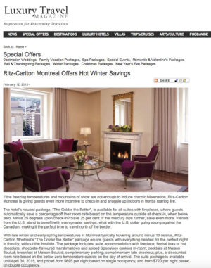 Hot Winter Savings LUXURY TRAVEL MAGAZINE