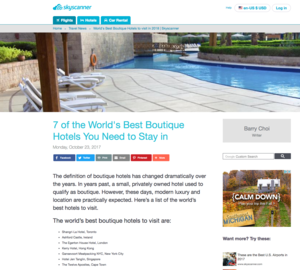 7 of the World's Best Boutique Hotels You Need to Stay SKY SCANNER