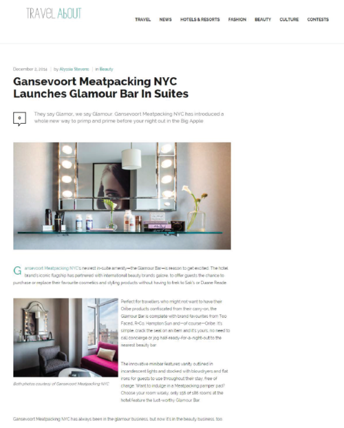 Glamour Bar in Suites TRAVEL ABOUT