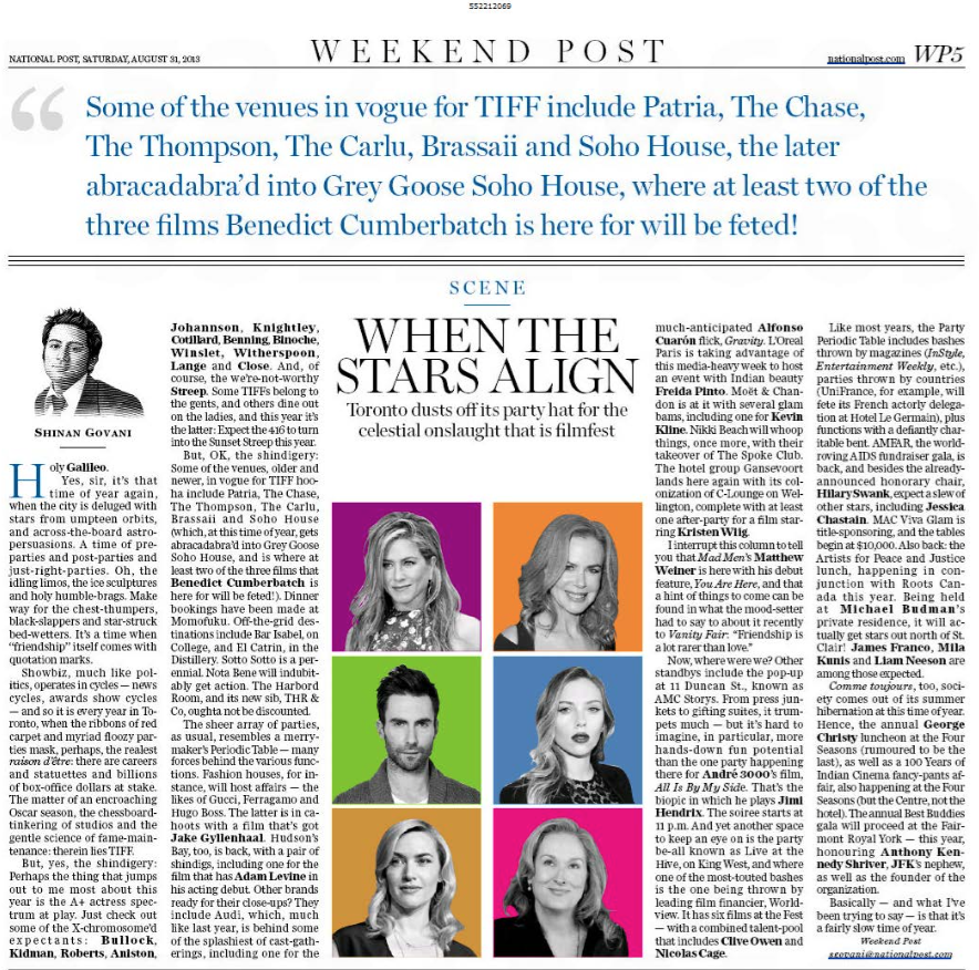 When The Stars Align NATIONAL POST
