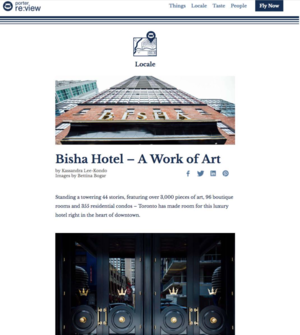 Bisha Hotel - A Work of Art PORTER RE:VIEW