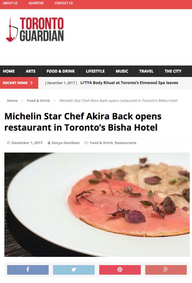 Michelin Star Chef Akira Back opens in Bisha   TORONTO GUARDIAN
