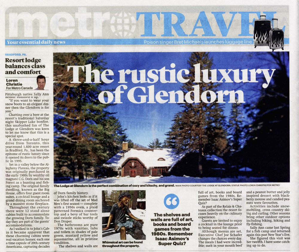 The Rustic Luxury of Glendorn METRO TRAVEL