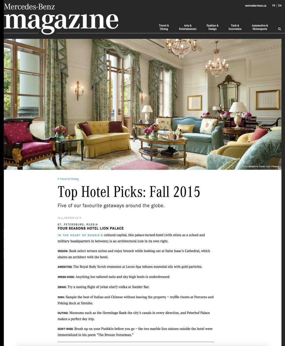 Top Hotel Pics MERCEDES-BENZ MAGAZINE