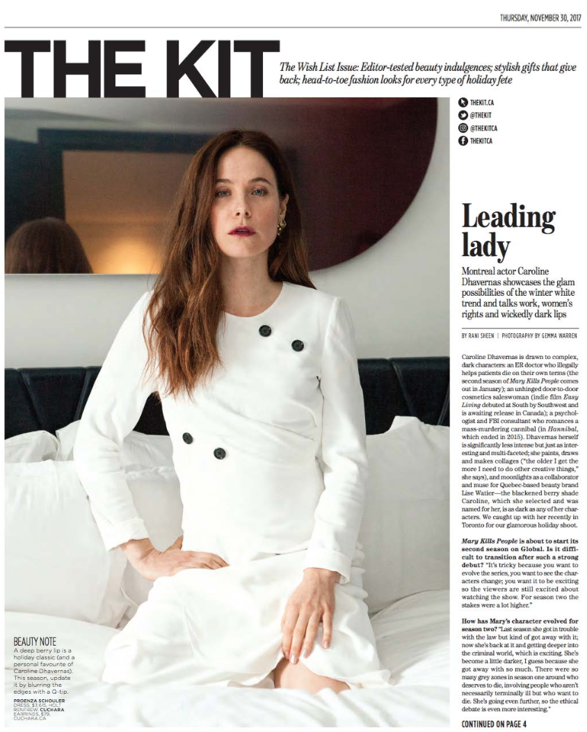 Caroline Dhavernas Photoshoot at Bisha Toronto THE KIT