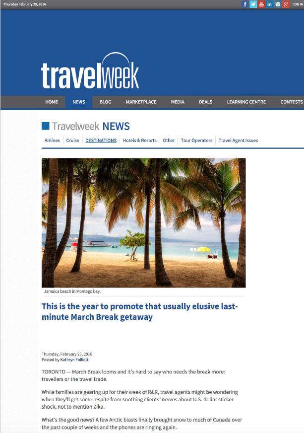 March Break Getaway TRAVEL WEEK
