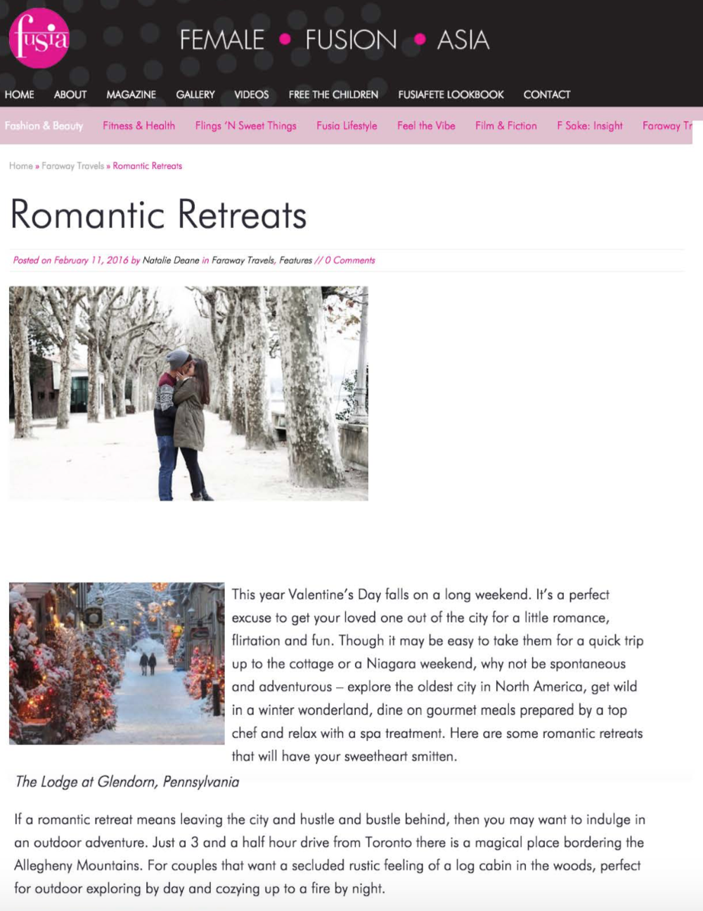 Romantic Retreats FUSIA MAGAZINE