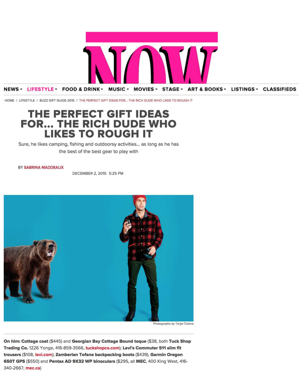 The perfect gift ideas for the rich dude who likes to rough it NOW MAGAZINE