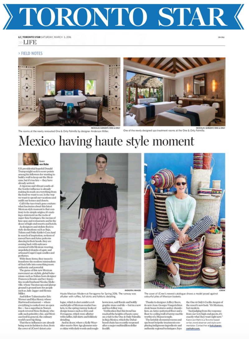 Mexico having haute style moment TORONTO STAR