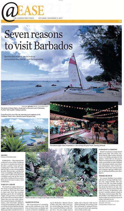Seven reasons to love Barbados<br>London Free Press
