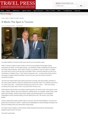 X Marks The Spot in Toronto<br>TRAVELPRESS