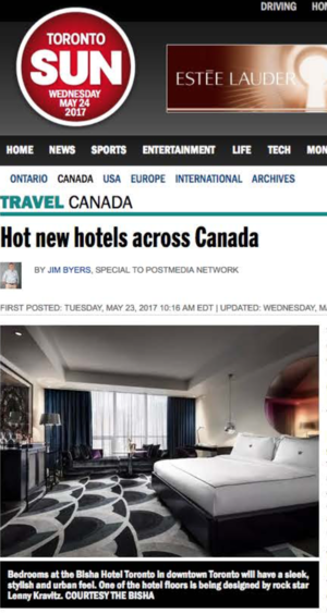 Hot New Hotels Across Canada<br>Toronto Sun