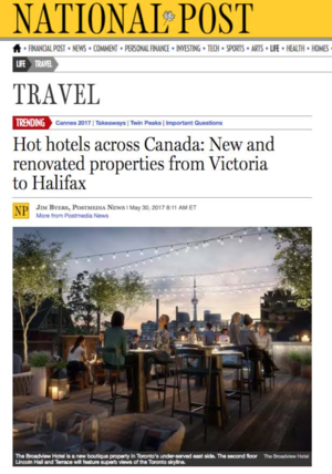 Hot hotels across Canada<br>National Post