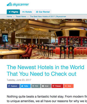 The NEwest Hotels in the World<br>Skyscanner.ca