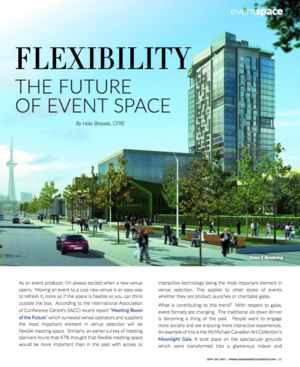 Flexibility: The Future of Event Space<br>CSE Magazine