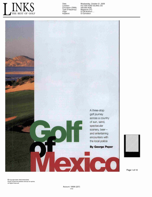 Golf of Mexico LINKS, THE BEST OF GOLF