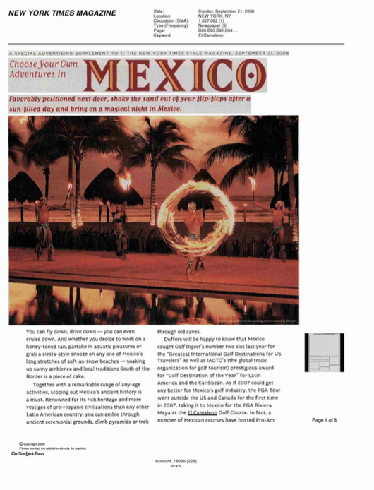 Choose Your Own Adventures in Mexico NEW YORK TIMES MAGAZINE