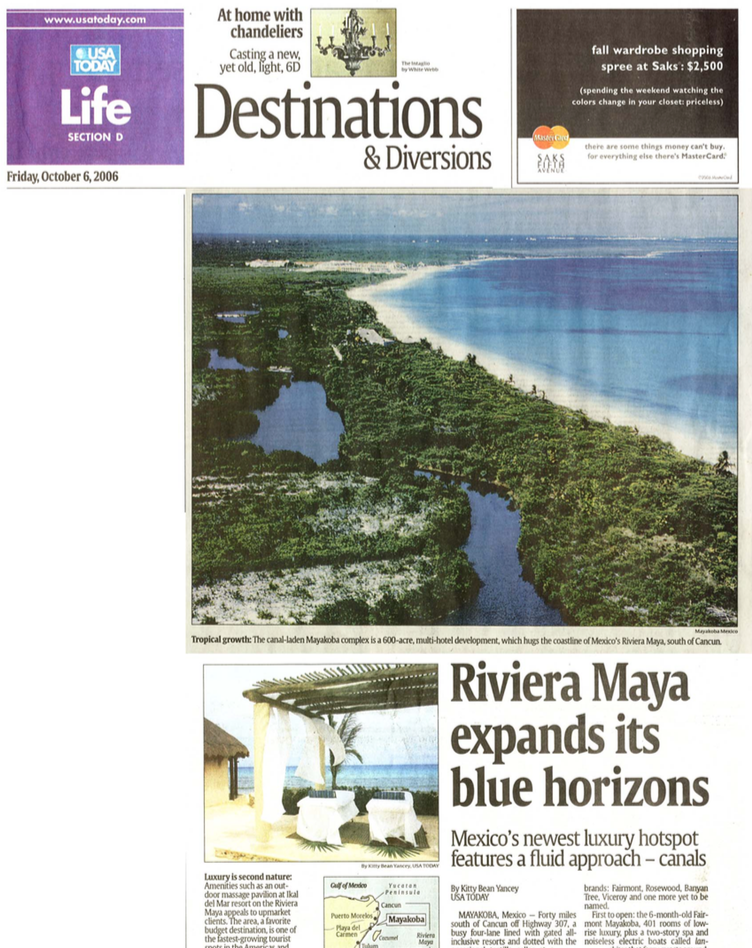 Riviera Maya expands its blue horizons USA TODAY