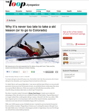 Why it's never too late to take a ski lesson<br>THE LOOP