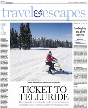 Ticket to Telluride<br>NATIONAL POST