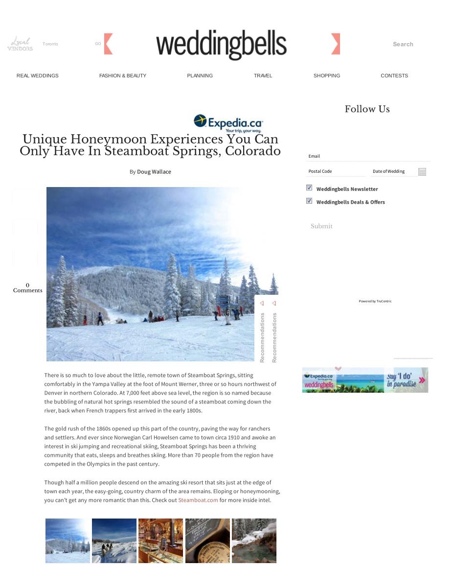 Unique Honeymoon Experiences in Colorado<br>WEDDINGBELLS