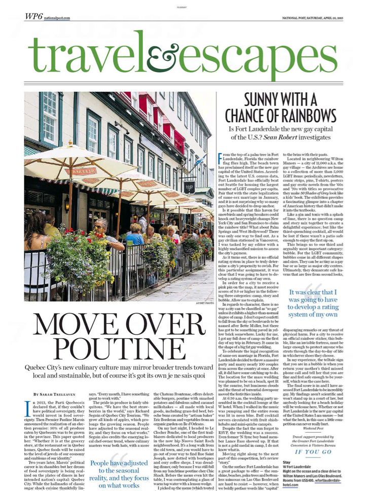 Move Over Poutine<br>NATIONAL POST